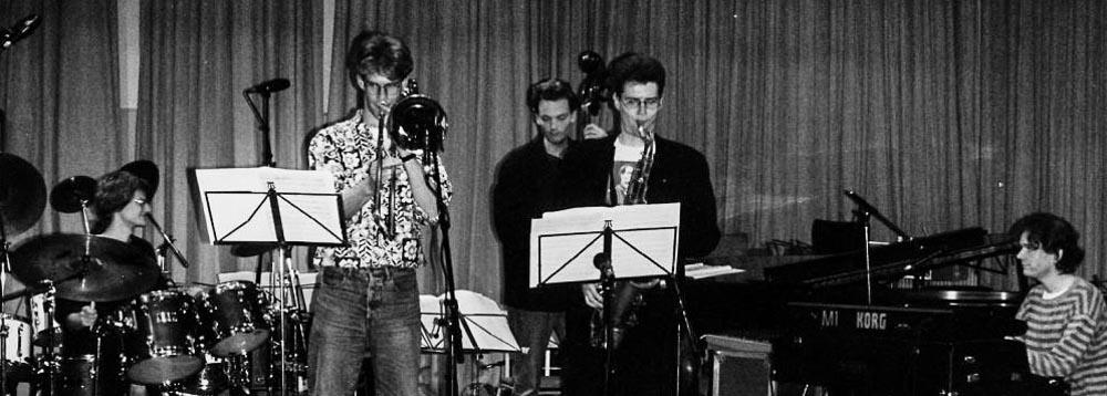 Thomas Hempel, Ilja Reijngoud, Tom Beek, Frans van Geest en Michiel Buursen eindexamen 1994